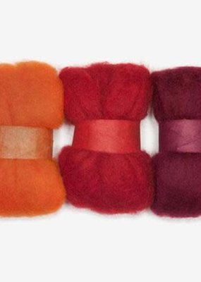 Dimensions Dimensions 100% Wool Roving Trio Orange/Red