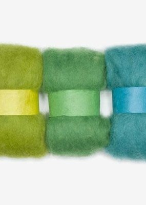 Dimensions Dimensions 100% Wool Roving Trio Blue Green