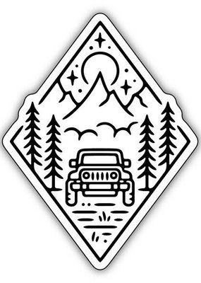 Stickers NW Sticker Oregon Outdoor Jeep Scene