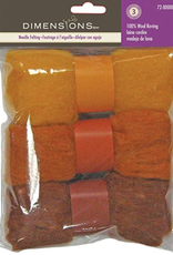 Dimensions Dimensions 100% Wool Roving Trio Gold/Rust