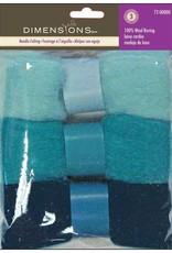 Dimensions Dimensions 100% Wool Roving Trio Blues