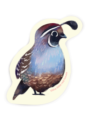 The Little Red House Sticker Quail