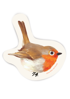 The Little Red House Sticker Robin