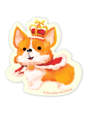 The Little Red House Sticker Royal Corgi