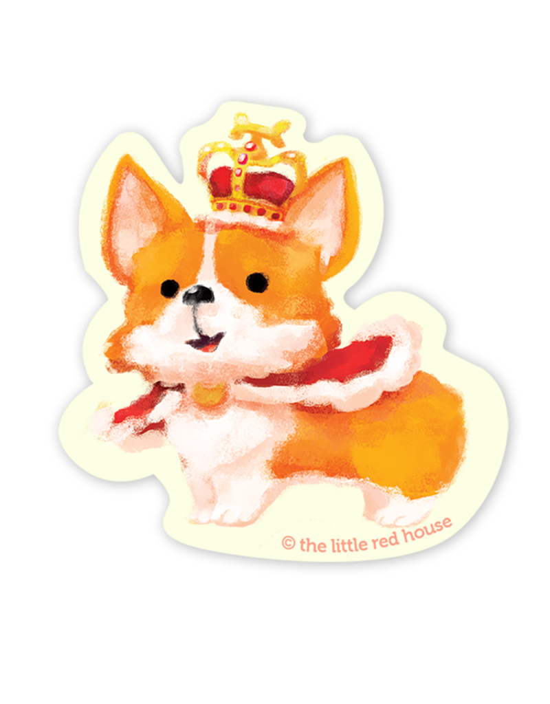 The Little Red House Sticker Royal Corgi