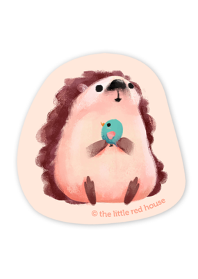 The Little Red House Sticker Hedgehog