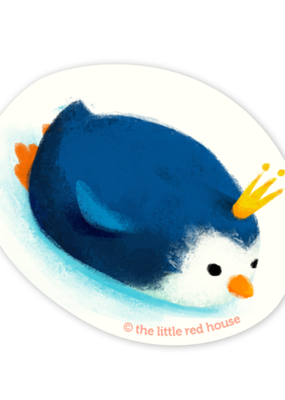 The Little Red House Sticker Penguin King