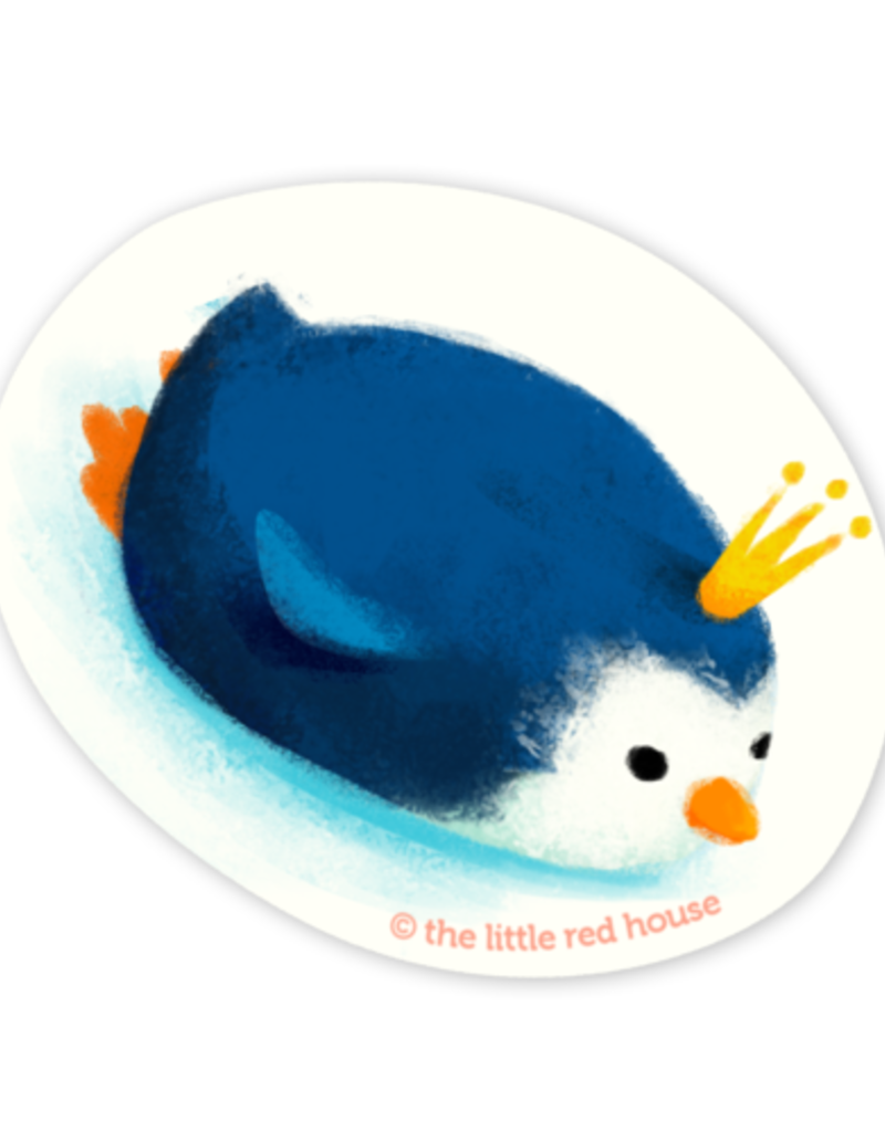 The Little Red House Sticker Penguin King