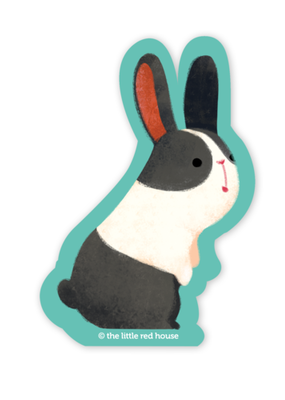 The Little Red House Sticker Dutch Bunny