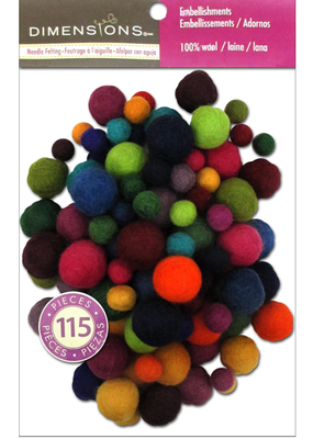 Dimensions Wool Balls Assorted Value Pack