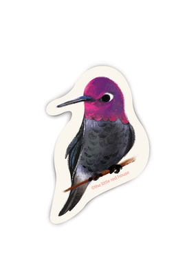 The Little Red House Sticker Hummingbird