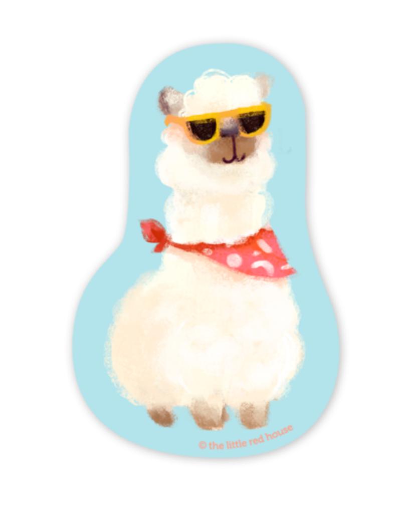 The Little Red House Sticker Alpaca