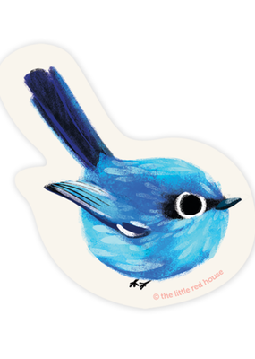 The Little Red House Sticker Blue Wren