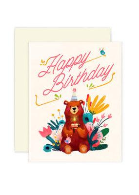 The Little Red House Card Birthday Bear
