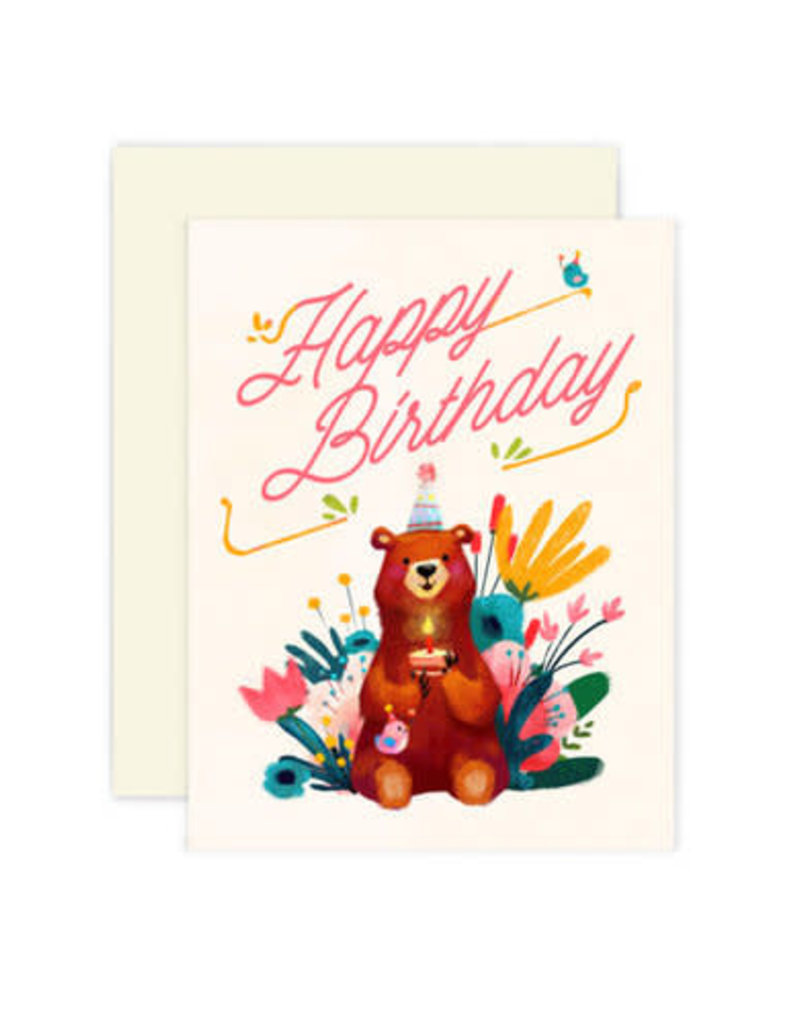 The Little Red House Card Birthday Bear