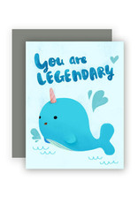 The Little Red House Card Legendary Narwhal