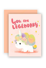 The Little Red House Card Legendary Unicorn