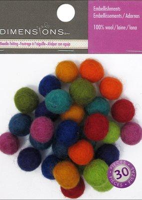 Dimensions Dimensions 100% Wool Embel Ball 1cm Astd