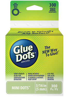 Glue Dots International Glue Dots Roll Mini 300 Dots