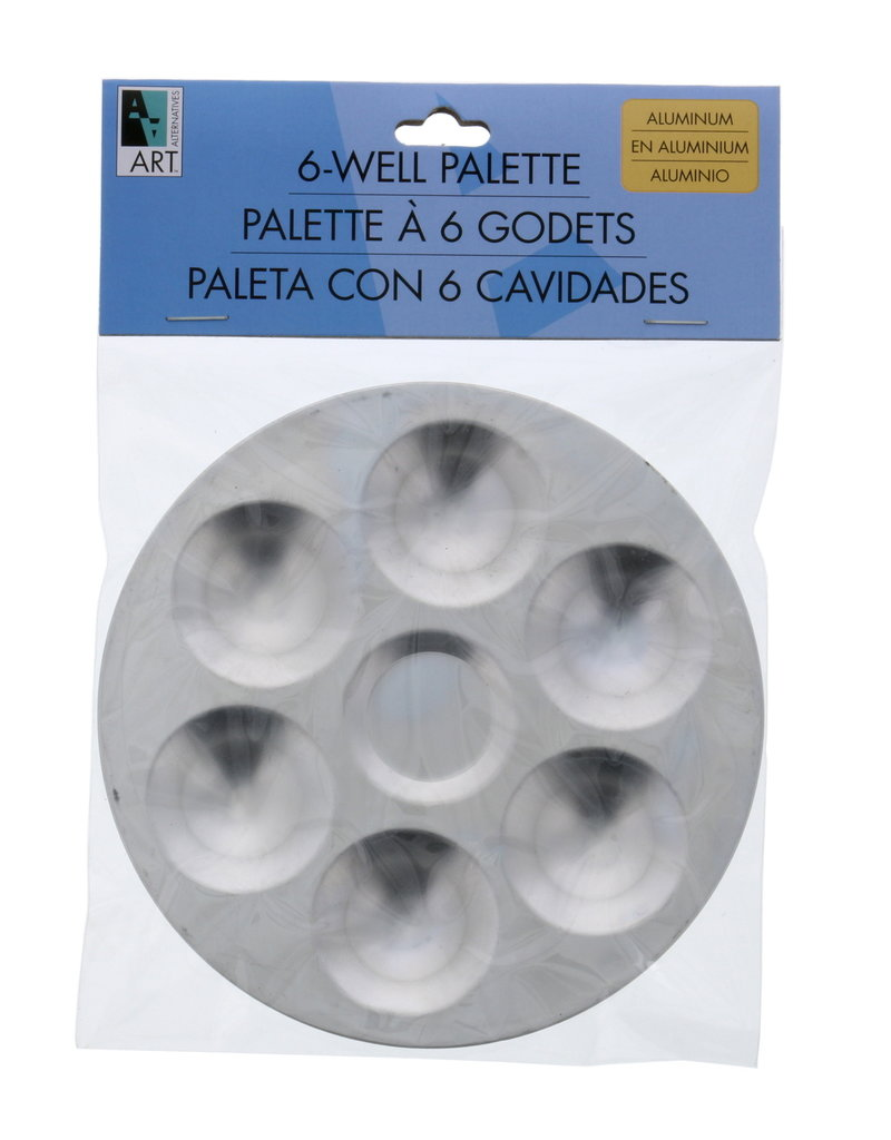 Art Alternatives Aluminum Palette 6-Well Round