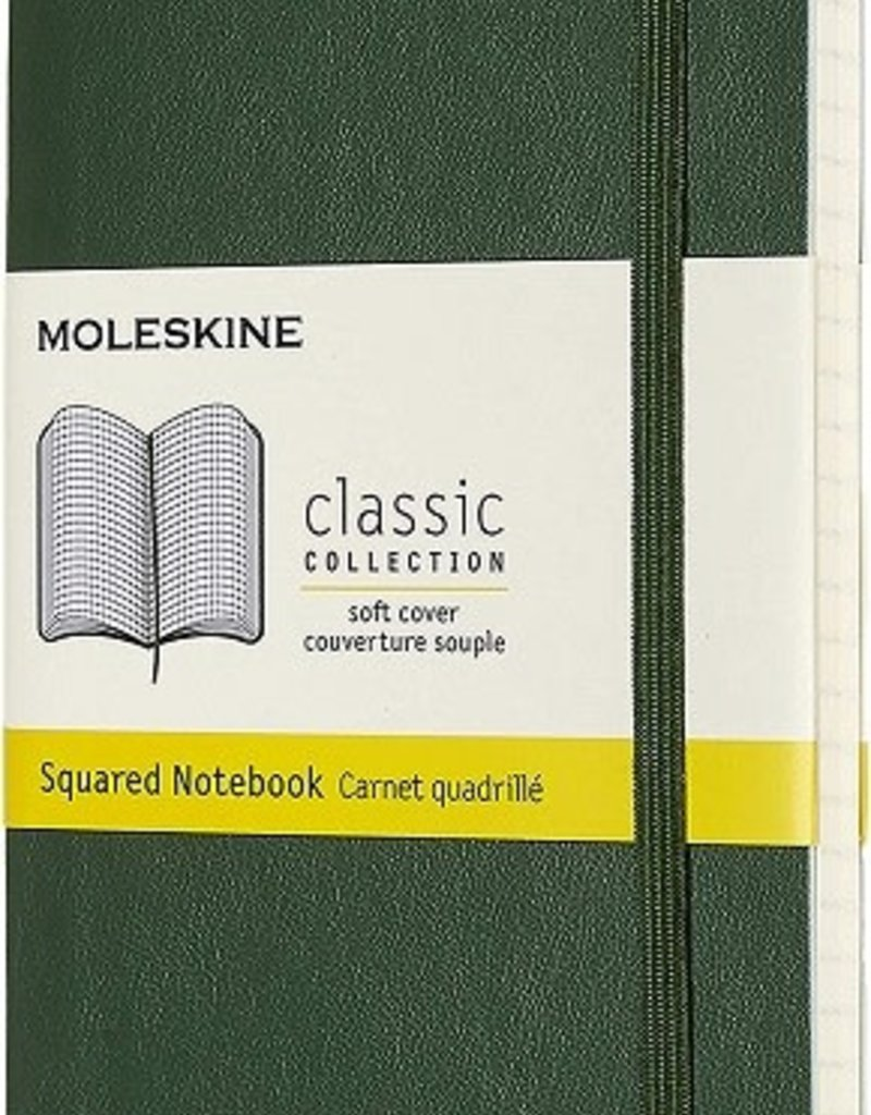 Moleskine Moleskine Classic Soft Cover Squared Pocket Myrtle Green