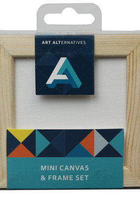 Art Alternatives Mini Canvas & Frame Set Pine  3 x 3 Inch