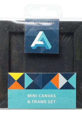 Art Alternatives Mini Canvas & Frame Set Black  3 x 3 Inch