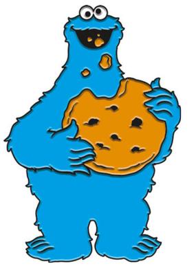 Enamel Pin Cookie Monster