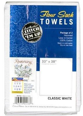Aunt Martha's Aunt Martha's Towel Flour Sack Dish 33 x 38 Inch 2 Piece