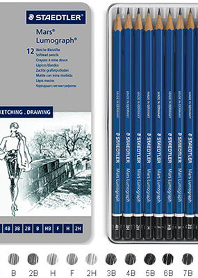 Staedtler Lumograph Pencil Set 12 Piece Soft Degrees