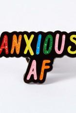 Punky Pins Enamel Pin Anxious AF