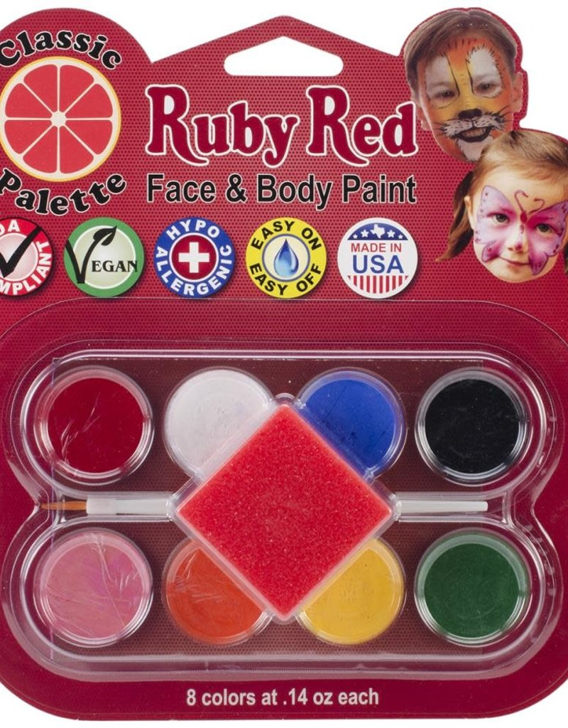 Ruby Red Face Paint Classic Palette