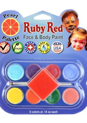 Ruby Red Face Paint Pearl Palette