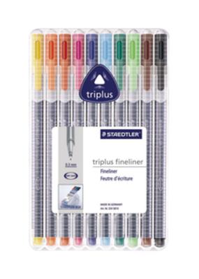 Staedtler Triplus Fineliner Pen Set 10