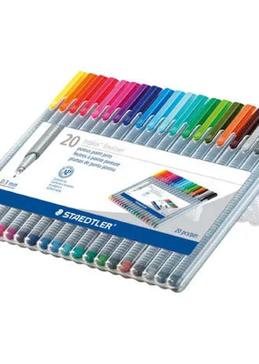 Staedtler Triplus Fineliner Pen Set 20 Color Set