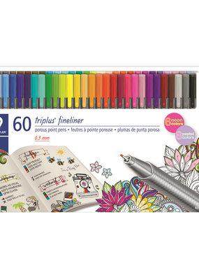 Staedtler Triplus Fineliner Pen Set 60 Color Set