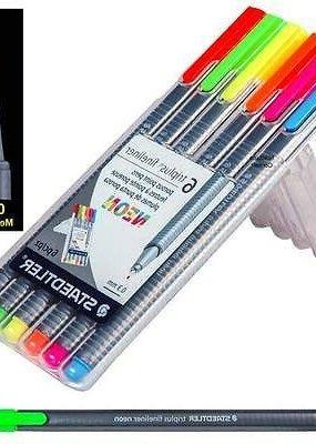 Staedtler Triplus Fineliner Pens Neon 6 Color Set