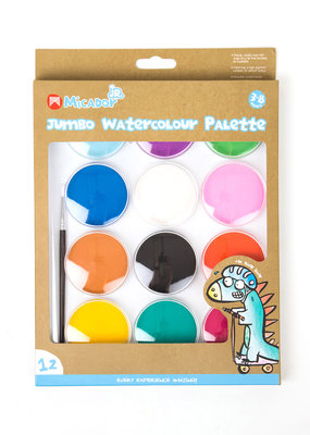 Micador Jumbo Watercolour 12 Color Palette