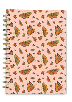 Good Juju Ink Spiral Notebook Monarch Butterflies
