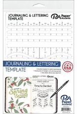 Paper Accents Journaling & Lettering Template Plastic 6 x 9