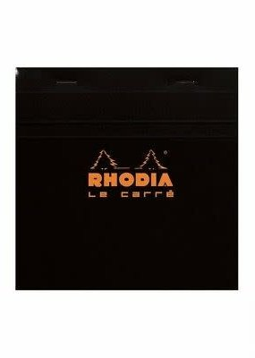 Rhodia Rhodia Square Graph 5.75X5.75 Black