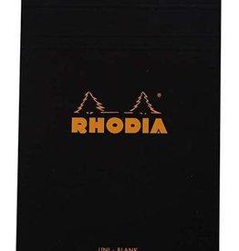 Rhodia Rhodia Blank Black 6 X 8.25