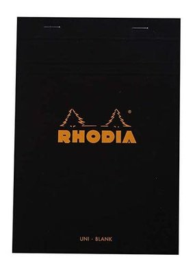 Rhodia Rhodia Blank Black 6X8.25