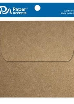 Paper Accents Envelope 5.5 x 5.5 8pc Brown Bag