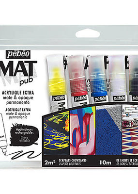 Pebeo Pebeo Acrylic Mat Pub 5 Color Discovery Set