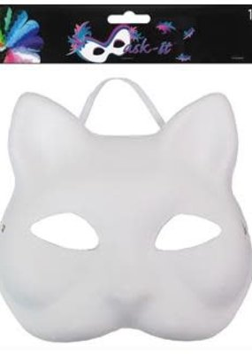 Midwest Design Midwest Design Mask Cat 7 Inch White