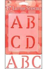 Plaid Plaid Stencil Paper Letter Upper 1.5 Inch Old School