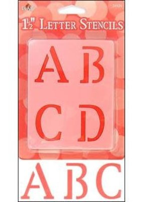 Plaid Plaid Stencil Paper Letter Upper 1.5 Inch Old School
