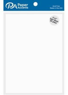 Paper Accents White Cardstock 5 x 7 Inch 25 Piece Pack