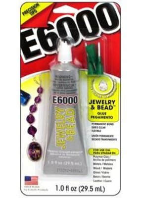 Eclectic E6000 Jewelry & Bead Glue 1 Ounce With Tip